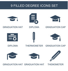 9 degree icons vector