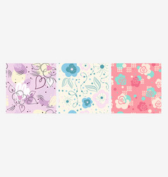 abstract floral ornamental seamless pattern vector image