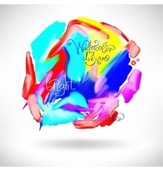 abstract watercolor splash design element vector image