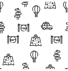 adventure seamless pattern vector image