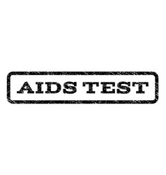 Aids test watermark stamp vector