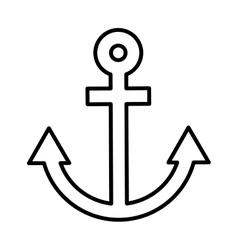 anchor ship maritime icon vector image