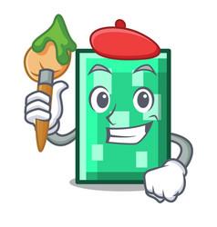 Artist rectangle character cartoon style vector