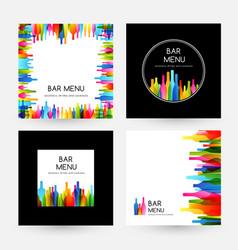 bar menu design collection frame card and labels vector image