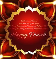 Beautiful background of diwali diya vector