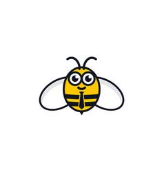 Bee job logo icon design vector