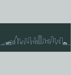 benidorm single line skyline profile vector image