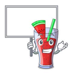 Bring board character tasty beverage fruit vector