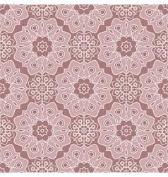Brown oriental seamless pattern vector