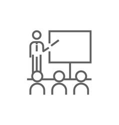 Business presentation line icon vector