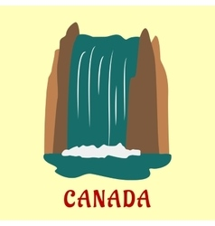 Canadian nature landmarks travel flat concept vector