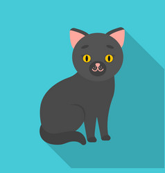 cat icon in flate style isolated on white vector image vector image