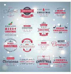 christmas typogaphic vintage vector image
