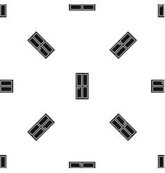 closed wooden door pattern seamless black vector image