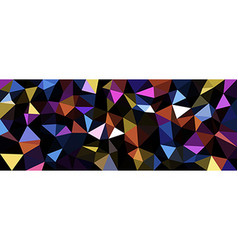 Colorful geometric texture abstract banner vector image