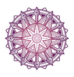 colorful mandala design asian korean vector image