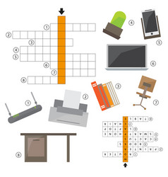 Colorless crossword education game for vector