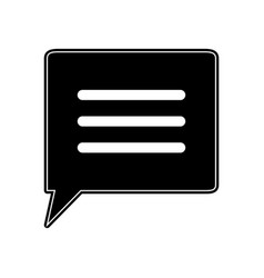 Conversation chat bubble icon image vector