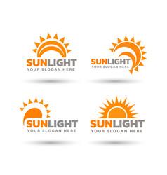 Creative sunlight logo design bundle vector