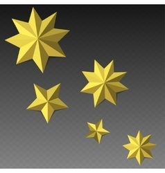 Eight corner paper stars vector