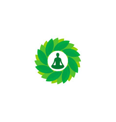 Environment wellness logo icon design vector