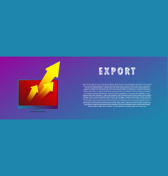 export files the arrow from the computer vector image