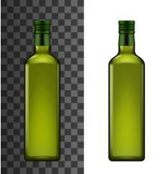 Extra virgin olive or sunflower oil in bottle vector