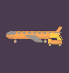 flat icon in shading style airplane gangway vector image