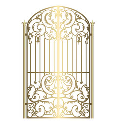 Forged metal gate vector