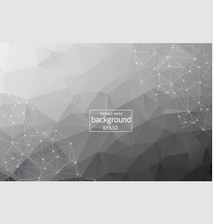geometric black polygonal background molecule and vector image