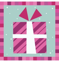 gift greeting card vector image vector image