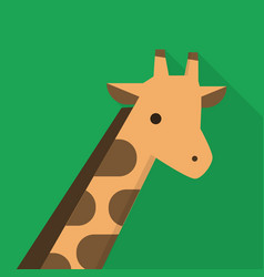 giraffe icon set of great flat icons design vector image
