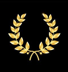 Gold laurel wreath symbol of victory vector