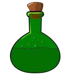 green bottle with a cork vector image