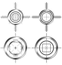 gun sights vector image
