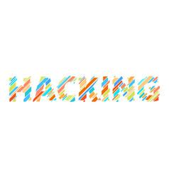 Hacking letter glitch digital colorful data font vector