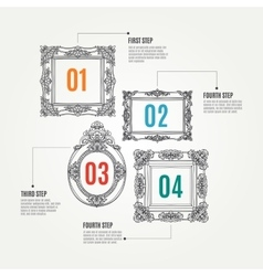 hand drawn infographic elements with vector image