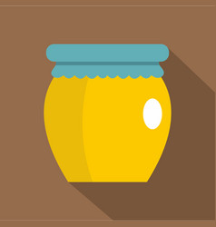 Honey liquid bank icon flat style vector