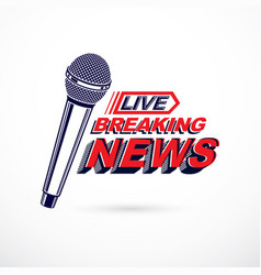 hot news conceptual logo composed using breaking vector image