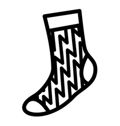 kid sock icon simple style vector image