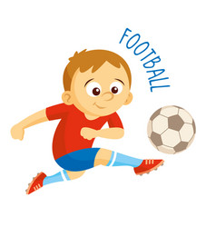 kinds of sports athlete football vector image