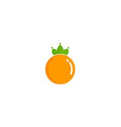 king fruit logo icon design vector image
