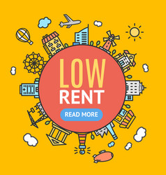 Low rent banner vector