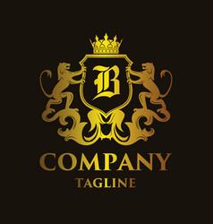 Luxury letter b logo vector