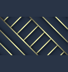 luxury patterns dark blue and gold gradient vector image