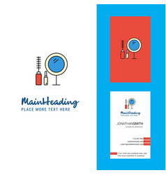 makeup creative logo and business card vertical vector image