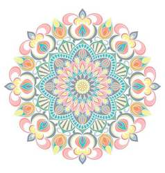 Mandala ornament Vintage decorative elements vector image
