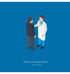 Medical doctor examination vector image
