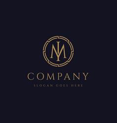 monogram letter im logo letter mi logo icon vector image