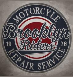 Motorcycle custom label vintage vector
